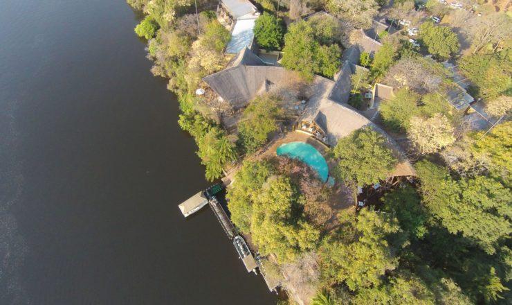 Chobe Safari Lodge - Vue aérienne