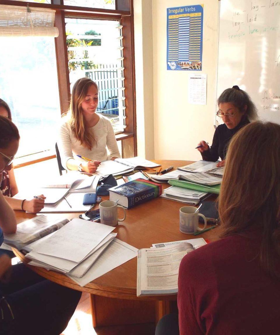 Des cours d'anglais dans un institut de langues