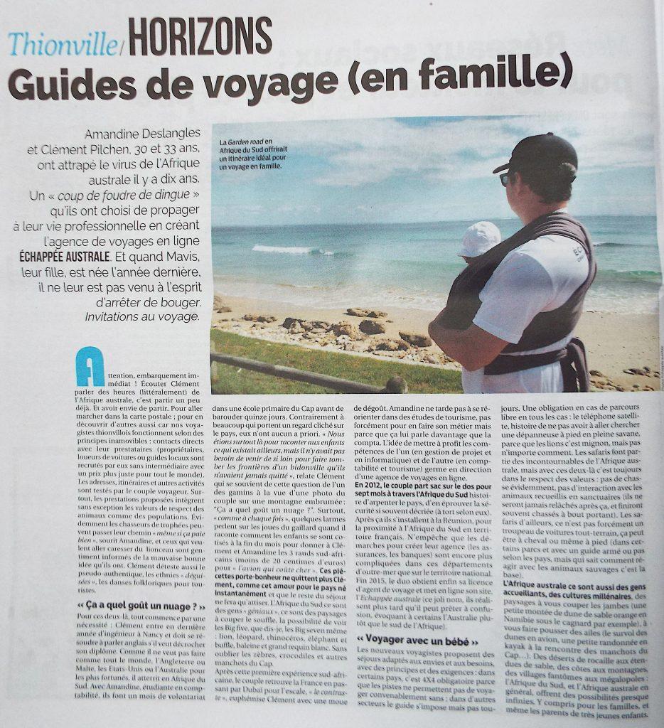 Guide de voyages en famille - La semaine page1