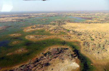 Maun - survol du delta de l'Okavango