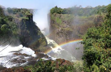 Zimbabwe - chutes Victoria et arc-en-ciel