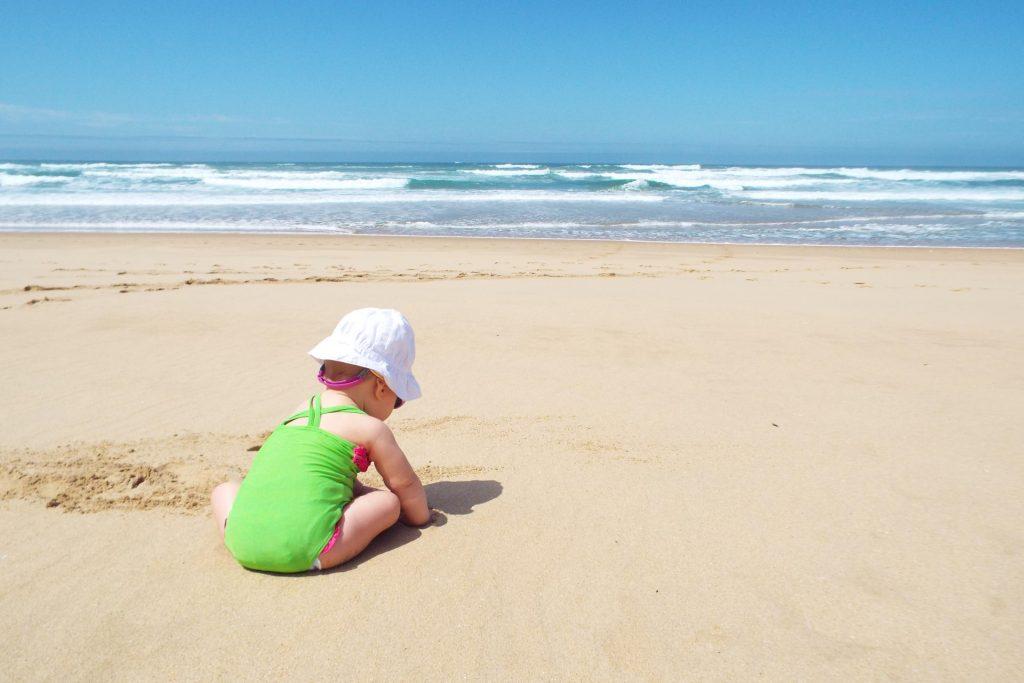 Voyager avec un bébé en Afrique du Sud - plage