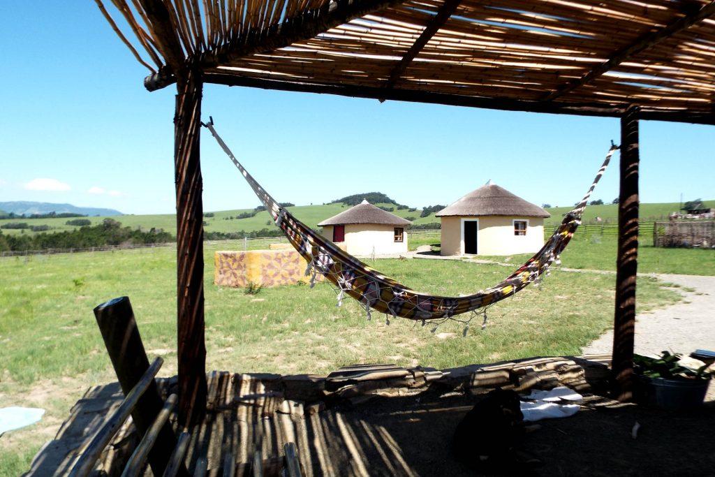 Afrique du Sud - Elundini - logement en rondavelle
