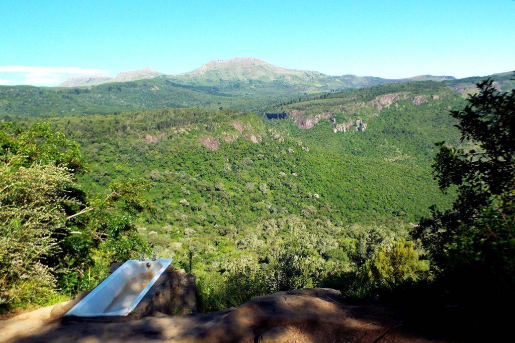 Afrique du Sud - Hogsback - baignoire avec vue