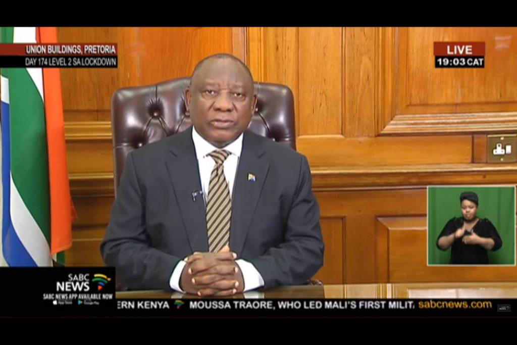 Cyril Ramaphosa - ouverture des frontières