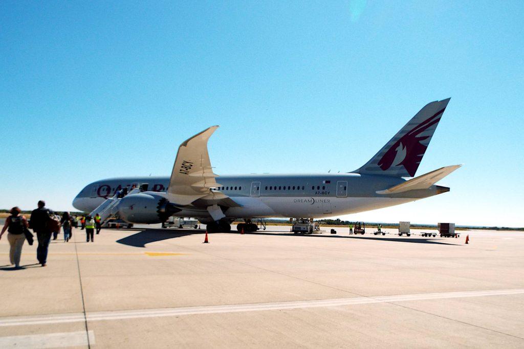 Namibie - avion Qatar