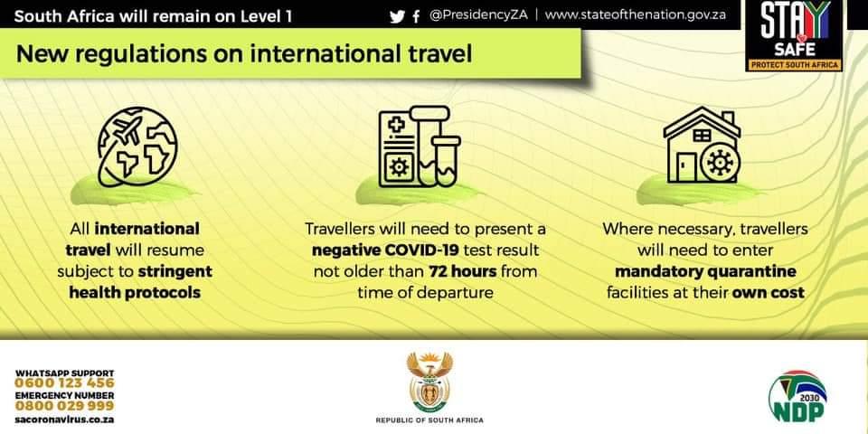 Afrique du Sud et Covid-19 - conditions d'entrée